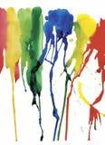 Fond coloré d'abrégé sur aquarelle Image libre de droits