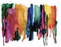 Fond coloré d'abrégé sur aquarelle Photo stock
