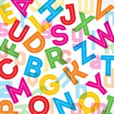 Fond coloré d'alphabet illustration libre de droits