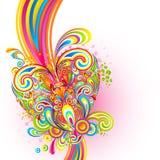 Fond coloré d'amour illustration stock