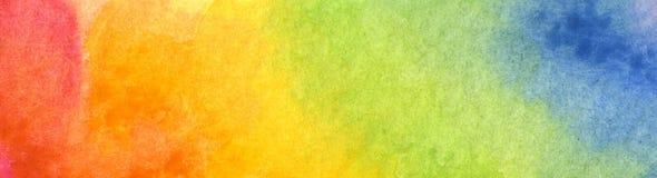 Fond coloré d'aquarelle d'arc-en-ciel - texture abstraite illustration stock