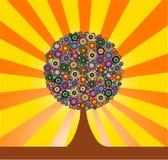 Fond coloré d'arbre d'art Photo libre de droits