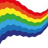 Fond coloré d'arc-en-ciel abstrait de Swirly Images stock