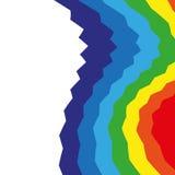 Fond coloré d'arc-en-ciel abstrait de Swirly Images libres de droits
