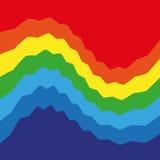 Fond coloré d'arc-en-ciel abstrait de Swirly Image stock