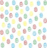 Fond coloré d'oeufs de pâques Photos libres de droits