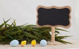 Fond coloré d'oeufs de pâques avec la bannière pour le texte de yor Image libre de droits