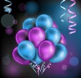 Fond coloré de ballons Photos libres de droits