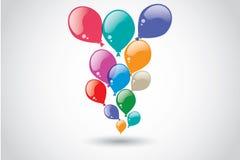Fond coloré de ballons Photo stock