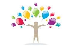 Fond coloré de ballons Images stock