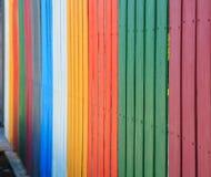 Fond coloré de barrières d'arc-en-ciel de vintage concept intérieur de construction et extérieur industriel de matériaux photographie stock libre de droits