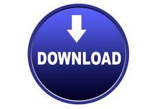 Fond coloré de blanc de bouton de Web d'icône de téléchargement Photo libre de droits