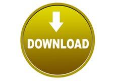 Fond coloré de blanc de bouton de Web d'icône de téléchargement Images libres de droits