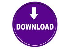 Fond coloré de blanc de bouton de Web d'icône de téléchargement Image libre de droits