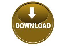 Fond coloré de blanc de bouton de Web d'icône de téléchargement Photo stock