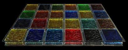 Fond coloré de blocs en verre Image libre de droits