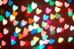 Fond coloré de bokeh de coeur Fond de jour du ` s de Valentine Photo libre de droits