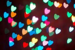 Fond coloré de bokeh de coeur Fond de jour du ` s de Valentine Image stock