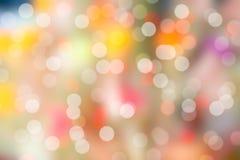 Fond coloré de bokeh et de tache floue (fond de bokeh) Image stock
