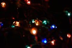 Fond coloré de bokeh de lumières, Chrismas photo libre de droits