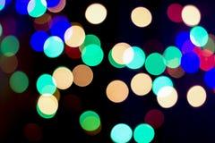 Fond coloré de bokeh, Noël Image libre de droits