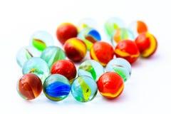 Fond coloré de boules en verre Images libres de droits