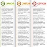 Fond coloré de brochure d'options Photographie stock libre de droits