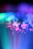 Fond coloré de câble optique de réseau de fibre Photo stock