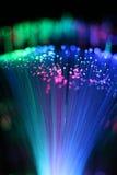 Fond coloré de câble optique de réseau de fibre Photo libre de droits