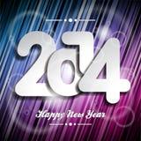 Fond coloré de célébration de la bonne année 2014 de vecteur Images libres de droits
