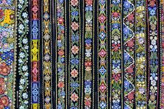 Fond coloré de ceintures décoratives