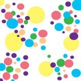 Fond coloré de cercles Images stock