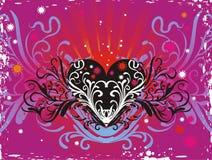 Fond coloré de coeur illustration de vecteur