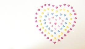 Fond coloré de coeur de sucrerie image stock
