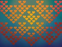 Fond coloré de configuration de coeurs Image libre de droits