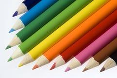 Fond coloré de crayon Image libre de droits