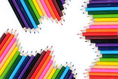 Fond coloré de crayon Photos libres de droits