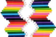 Fond coloré de crayon Images stock