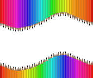 Fond coloré de crayon d'arc-en-ciel, papier peint, vecteur Photo stock