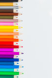 Fond coloré de crayons Photo stock