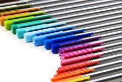 Fond coloré de crayons lecteurs Photos libres de droits