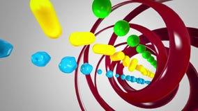 Fond coloré de cube clips vidéos