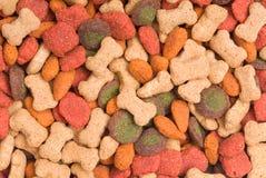 Fond coloré de détail d'aliment pour animaux familiers Images libres de droits