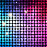 Fond coloré de Dots Abstract Disco Vecteur illustration stock
