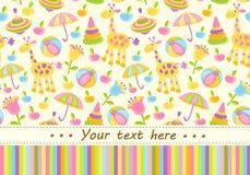 Fond coloré de fête de naissance avec l'endroit pour le texte Photo libre de droits