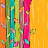 Fond coloré de feuilles d'automne de vecteur Photographie stock