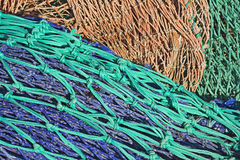 Fond coloré de filet de pêche Images libres de droits