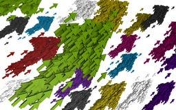 Fond coloré de flèche Photos stock