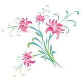 Fond coloré de fleurs Photo stock
