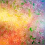 Fond coloré de fleurs Image stock